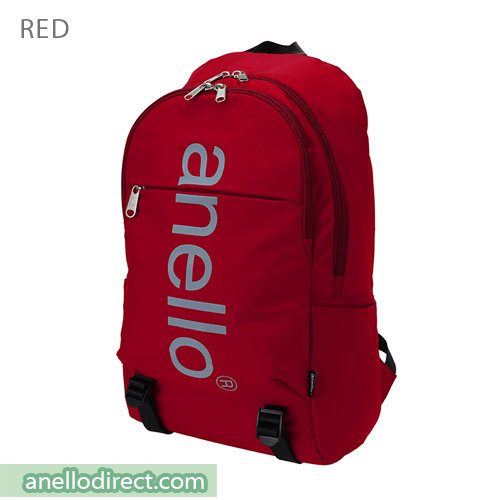 Anello Big Logo Print Polyester Backpack Rucksack AH-B2481 Red Japan Original Official Authentic Real Genuine Bag Free Shipping Worldwide Special Discount Low Prices Great Offer