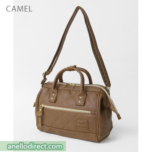 Anello Quilting PU Faux Leather 2 Way Shoulder Bag Handbag Mini Size AH-H1861 Camel Japan Original Official Authentic Real Genuine Bag Free Shipping Worldwide Special Discount Low Prices Great Offer