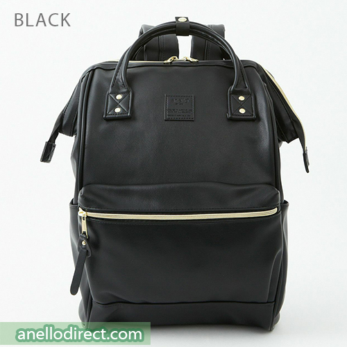 Anello RETRO PU Leather Backpack Rucksack Large Size AHB3771 Black Japan Original Official Authentic Real Genuine Bag Free Shipping Worldwide Special Discount Low Prices Great Offer
