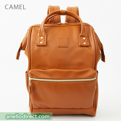 Anello RETRO PU Leather Backpack Rucksack Large Size AHB3771 Camel Japan Original Official Authentic Real Genuine Bag Free Shipping Worldwide Special Discount Low Prices Great Offer