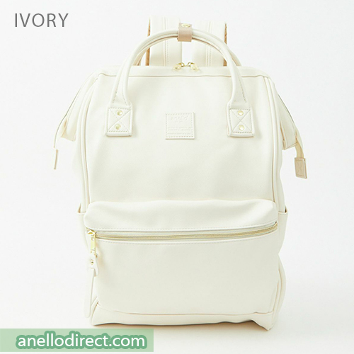 Anello RETRO PU Leather Backpack Rucksack Large Size AHB3771 Ivory Japan Original Official Authentic Real Genuine Bag Free Shipping Worldwide Special Discount Low Prices Great Offer