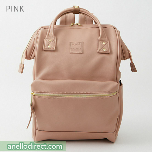 Anello RETRO PU Leather Backpack Rucksack Large Size AHB3771 Pink Japan Original Official Authentic Real Genuine Bag Free Shipping Worldwide Special Discount Low Prices Great Offer