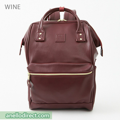 Anello RETRO PU Leather Backpack Rucksack Large Size AHB3771 Wine Japan Original Official Authentic Real Genuine Bag Free Shipping Worldwide Special Discount Low Prices Great Offer