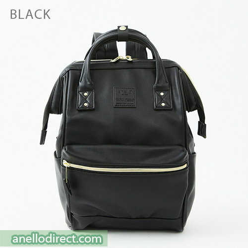 Anello RETRO PU Leather Backpack Rucksack Mini Size AHB3772 Black Japan Original Official Authentic Real Genuine Bag Free Shipping Worldwide Special Discount Low Prices Great Offer