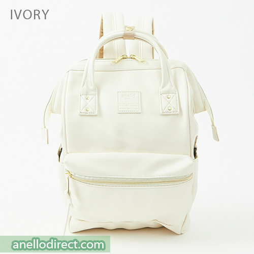 Anello RETRO PU Leather Backpack Rucksack Mini Size AHB3772 Ivory Japan Original Official Authentic Real Genuine Bag Free Shipping Worldwide Special Discount Low Prices Great Offer