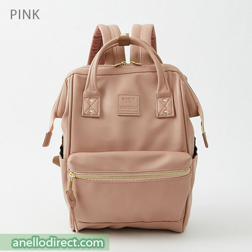 Anello RETRO PU Leather Backpack Rucksack Mini Size AHB3772 Pink Japan Original Official Authentic Real Genuine Bag Free Shipping Worldwide Special Discount Low Prices Great Offer