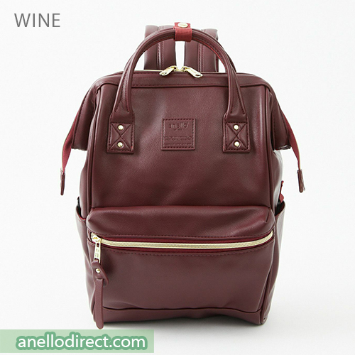 Anello RETRO PU Leather Backpack Rucksack Mini Size AHB3772 Wine Japan Original Official Authentic Real Genuine Bag Free Shipping Worldwide Special Discount Low Prices Great Offer