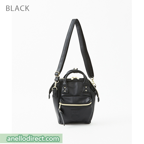 Anello RETRO PU Leather Shoulder Bag AHB3774 Black Japan Original Official Authentic Real Genuine Bag Free Shipping Worldwide Special Discount Low Prices Great Offer