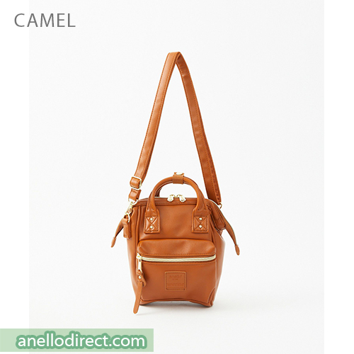 Anello RETRO PU Leather Shoulder Bag AHB3774 Camel Japan Original Official Authentic Real Genuine Bag Free Shipping Worldwide Special Discount Low Prices Great Offer