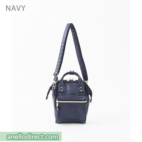 Anello RETRO PU Leather Shoulder Bag AHB3774 Navy Japan Original Official Authentic Real Genuine Bag Free Shipping Worldwide Special Discount Low Prices Great Offer