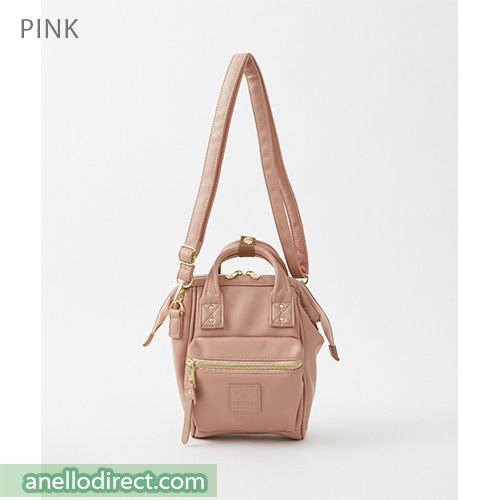 Anello RETRO PU Leather Shoulder Bag AHB3774 Pink Japan Original Official Authentic Real Genuine Bag Free Shipping Worldwide Special Discount Low Prices Great Offer