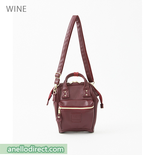 Anello RETRO PU Leather Shoulder Bag AHB3774 Wine Japan Original Official Authentic Real Genuine Bag Free Shipping Worldwide Special Discount Low Prices Great Offer