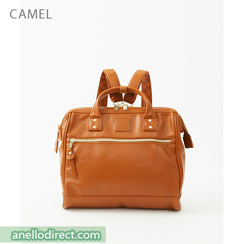 Anello RETRO PU Leather 3 Way Boston Shoulder Bag Backpack AHB3775 Camel Japan Original Official Authentic Real Genuine Bag Free Shipping Worldwide Special Discount Low Prices Great Offer