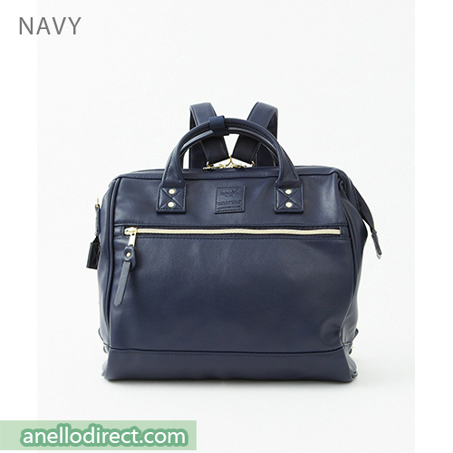 Anello RETRO PU Leather 3 Way Boston Shoulder Bag Backpack AHB3775 Navy Japan Original Official Authentic Real Genuine Bag Free Shipping Worldwide Special Discount Low Prices Great Offer