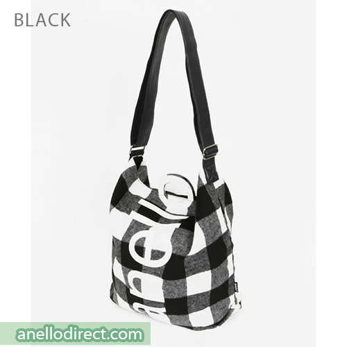Anello O Handle Checker 2 Way Tote Bag Handbag AI-S0066 Black Japan Original Official Authentic Real Genuine Bag Free Shipping Worldwide Special Discount Low Prices Great Offer