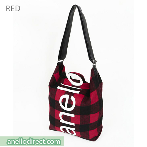Anello O Handle Checker 2 Way Tote Bag Handbag AI-S0066 Red Japan Original Official Authentic Real Genuine Bag Free Shipping Worldwide Special Discount Low Prices Great Offer