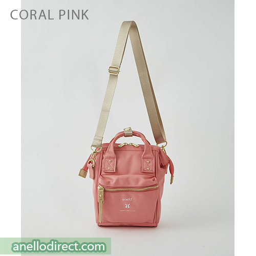 Anello RE-MODEL Polyester Canvas Mini Shoulder Bag ASO-S001 Coral Pink Japan Original Official Authentic Real Genuine Bag Free Shipping Worldwide Special Discount Low Prices Great Offer