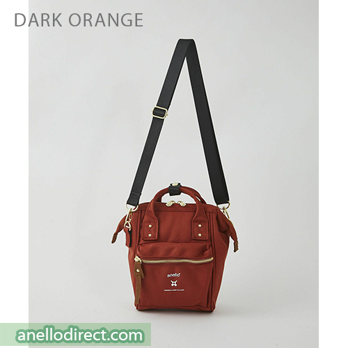 Anello RE-MODEL Polyester Canvas Mini Shoulder Bag ASO-S001 Dark Orange Japan Original Official Authentic Real Genuine Bag Free Shipping Worldwide Special Discount Low Prices Great Offer