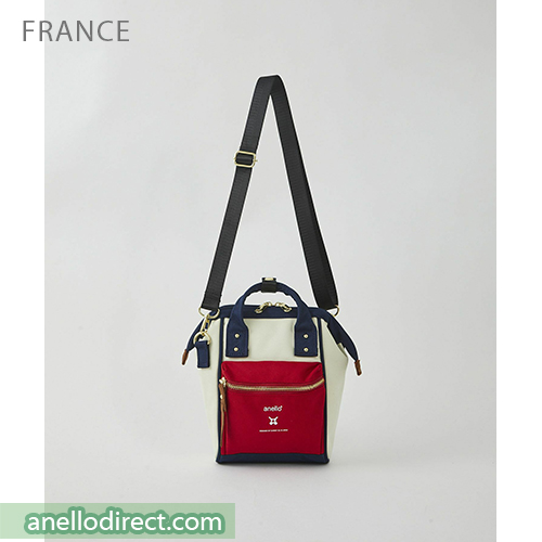 Anello RE-MODEL Polyester Canvas Mini Shoulder Bag ASO-S001 Mix-F Japan Original Official Authentic Real Genuine Bag Free Shipping Worldwide Special Discount Low Prices Great Offer