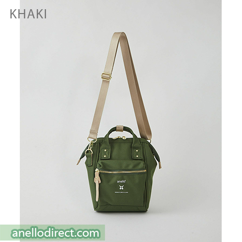 Anello RE-MODEL Polyester Canvas Mini Shoulder Bag ASO-S001 Khaki Japan Original Official Authentic Real Genuine Bag Free Shipping Worldwide Special Discount Low Prices Great Offer