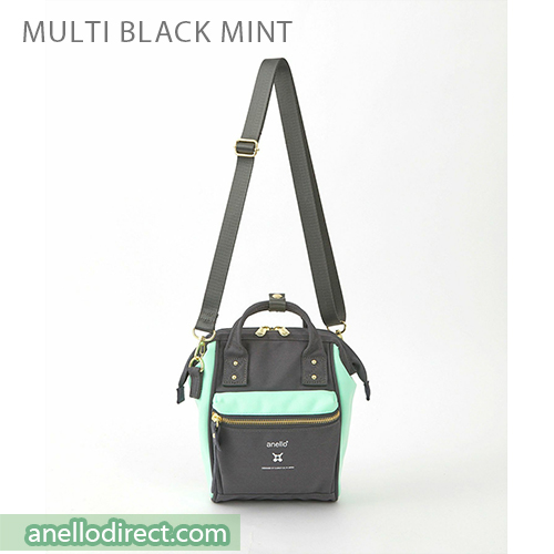 Anello RE-MODEL Polyester Canvas Mini Shoulder Bag ASO-S001 Black Multi Japan Original Official Authentic Real Genuine Bag Free Shipping Worldwide Special Discount Low Prices Great Offer