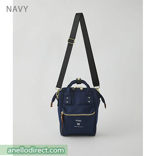 Anello RE-MODEL Polyester Canvas Mini Shoulder Bag ASO-S001 Navy Japan Original Official Authentic Real Genuine Bag Free Shipping Worldwide Special Discount Low Prices Great Offer