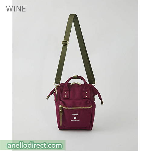 Anello RE-MODEL Polyester Canvas Mini Shoulder Bag ASO-S001 Wine Japan Original Official Authentic Real Genuine Bag Free Shipping Worldwide Special Discount Low Prices Great Offer