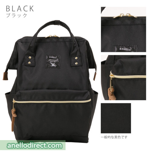 Anello Polyester Canvas Backpack Rucksack Regular Size AT-B0193A Black Japan Original Official Authentic Real Genuine Bag Free Shipping Worldwide Special Discount Low Prices Great Offer