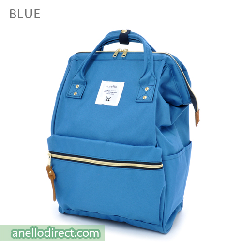 Anello Polyester Canvas Backpack Rucksack Regular Size AT-B0193A Blue Japan Original Official Authentic Real Genuine Bag Free Shipping Worldwide Special Discount Low Prices Great Offer