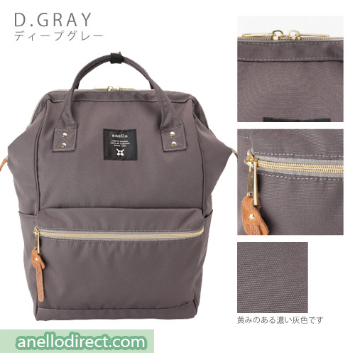 7e59398dd508 Anello Polyester Canvas Backpack Rucksack Regular Size AT-B0193A
