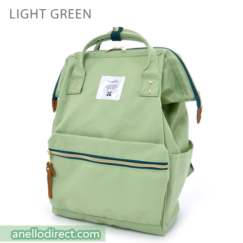 Anello Polyester Canvas Backpack Rucksack Regular Size AT-B0193A Light Green Japan Original Official Authentic Real Genuine Bag Free Shipping Worldwide Special Discount Low Prices Great Offer