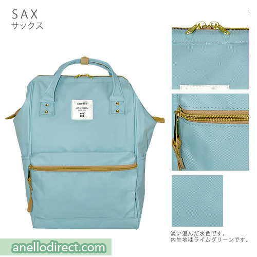 Anello Polyester Canvas Backpack Rucksack Regular Size AT-B0193A Sax Japan Original Official Authentic Real Genuine Bag Free Shipping Worldwide Special Discount Low Prices Great Offer