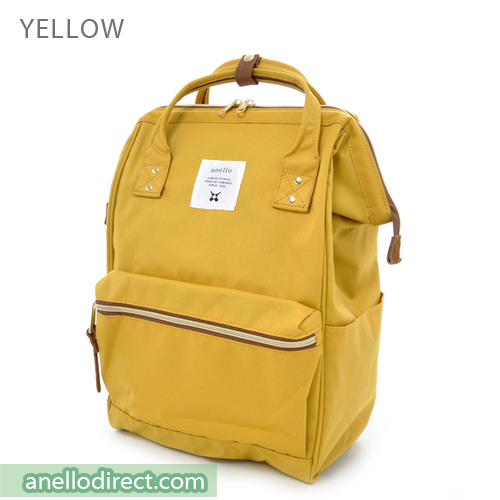 Anello Polyester Canvas Backpack Rucksack Regular Size AT-B0193A Yellow Japan Original Official Authentic Real Genuine Bag Free Shipping Worldwide Special Discount Low Prices Great Offer