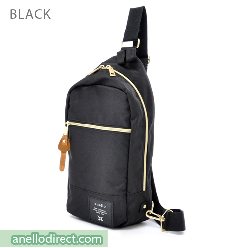 Anello Polyester Canvas Cross Vertical-Type Body Bag AT-B0194 Black Japan Original Official Authentic Real Genuine Bag Free Shipping Worldwide Special Discount Low Prices Great Offer