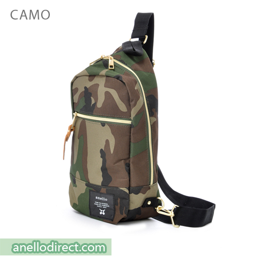 Anello Polyester Canvas Cross Vertical-Type Body Bag AT-B0194 Camo Japan Original Official Authentic Real Genuine Bag Free Shipping Worldwide Special Discount Low Prices Great Offer