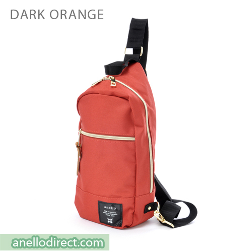 Anello Polyester Canvas Cross Vertical-Type Body Bag AT-B0194 Dark Orange Japan Original Official Authentic Real Genuine Bag Free Shipping Worldwide Special Discount Low Prices Great Offer