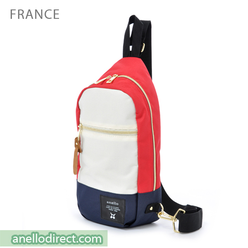 Anello Polyester Canvas Cross Vertical-Type Body Bag AT-B0194 France Japan Original Official Authentic Real Genuine Bag Free Shipping Worldwide Special Discount Low Prices Great Offer