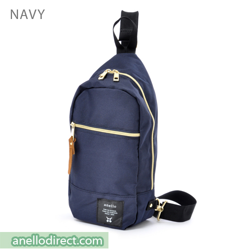 Anello Polyester Canvas Cross Vertical-Type Body Bag AT-B0194 Navy Japan Original Official Authentic Real Genuine Bag Free Shipping Worldwide Special Discount Low Prices Great Offer