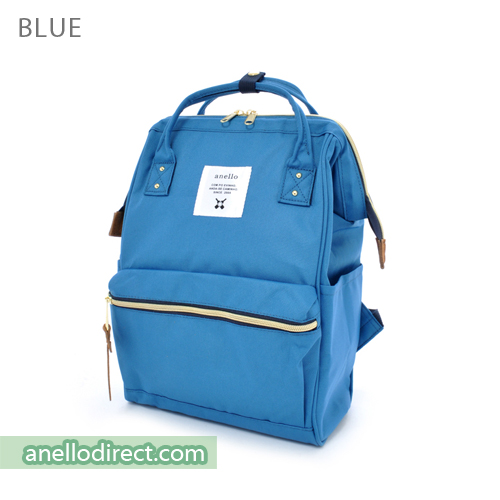 Anello Polyester Canvas Backpack Rucksack Mini Size AT-B0197B Blue Japan Original Official Authentic Real Genuine Bag Free Shipping Worldwide Special Discount Low Prices Great Offer