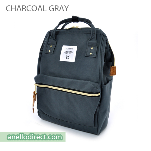 Anello Polyester Canvas Backpack Rucksack Mini Size AT-B0197B Charcoal Gray Japan Original Official Authentic Real Genuine Bag Free Shipping Worldwide Special Discount Low Prices Great Offer