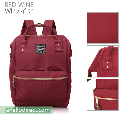Anello Polyester Canvas Backpack Rucksack Mini Size AT-B0197B Red Wine Japan Original Official Authentic Real Genuine Bag Free Shipping Worldwide Special Discount Low Prices Great Offer