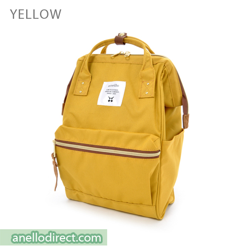 Anello Polyester Canvas Backpack Rucksack Mini Size AT-B0197B Yellow Japan Original Official Authentic Real Genuine Bag Free Shipping Worldwide Special Discount Low Prices Great Offer