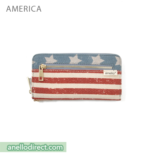 Anello Canvas Long Wallet AT-B0933 America Japan Original Official Authentic Real Genuine Bag Free Shipping Worldwide Special Discount Low Prices Great Offer