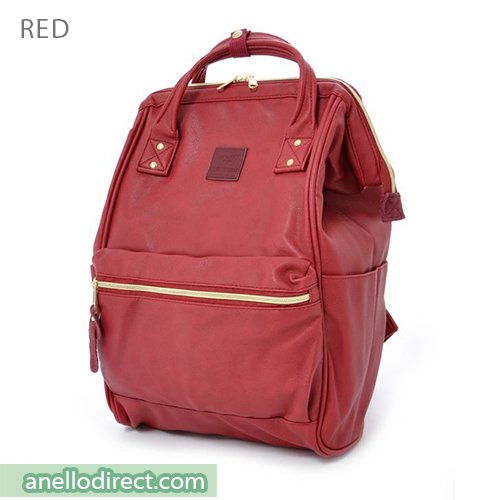 Anello PU Leather Backpack Rucksack Regular Size AT-B1211 Red Japan Original Official Authentic Real Genuine Bag Free Shipping Worldwide Special Discount Low Prices Great Offer