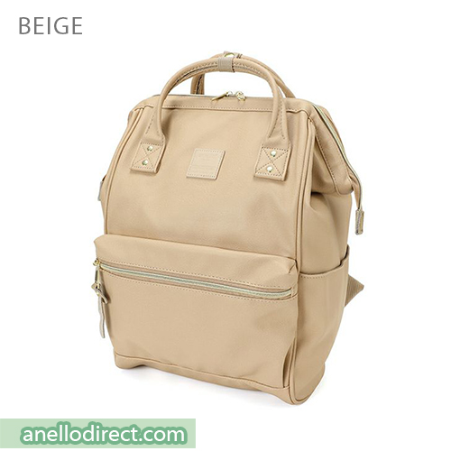 Anello PU Leather Backpack Rucksack Regular Size AT-B1211 Beige Japan Original Official Authentic Real Genuine Bag Free Shipping Worldwide Special Discount Low Prices Great Offer