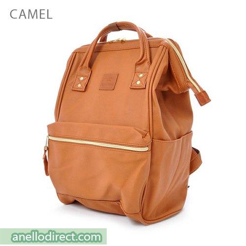 Anello PU Leather Backpack Rucksack Regular Size AT-B1211 Camel Japan Original Official Authentic Real Genuine Bag Free Shipping Worldwide Special Discount Low Prices Great Offer