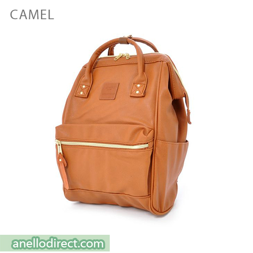 Anello PU Leather Backpack Rucksack Mini Size AT-B1212 Camel Japan Original Official Authentic Real Genuine Bag Free Shipping Worldwide Special Discount Low Prices Great Offer