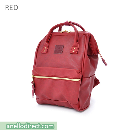 Anello PU Leather Backpack Rucksack Mini Size AT-B1212 Red Japan Original Official Authentic Real Genuine Bag Free Shipping Worldwide Special Discount Low Prices Great Offer