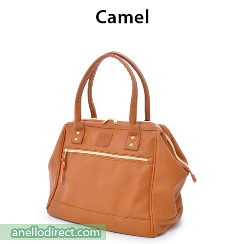 Anello Boston PU Leather Shoulder Bag Size AT-B1213 Camel Japan Original Official Authentic Real Genuine Bag Free Shipping Worldwide Special Discount Low Prices Great Offer