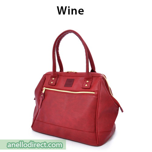 Anello Boston PU Leather Shoulder Bag Size AT-B1213 Wine Japan Original Official Authentic Real Genuine Bag Free Shipping Worldwide Special Discount Low Prices Great Offer